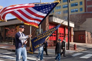 Local 22 members showing their pride in a parade through the streets of Philadelphia.