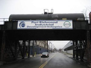 Each railroad bridge within PRIDE's area is equipped with this sign.