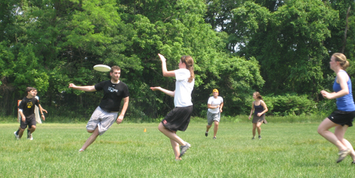 PADA member goes in for a catch during Monday's Hat Tournament.