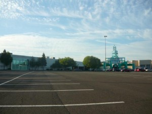 Vacant stores are causing many empty parking lots around the Franklin Mills Mall.