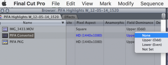 Get Rid of Lines in FCP