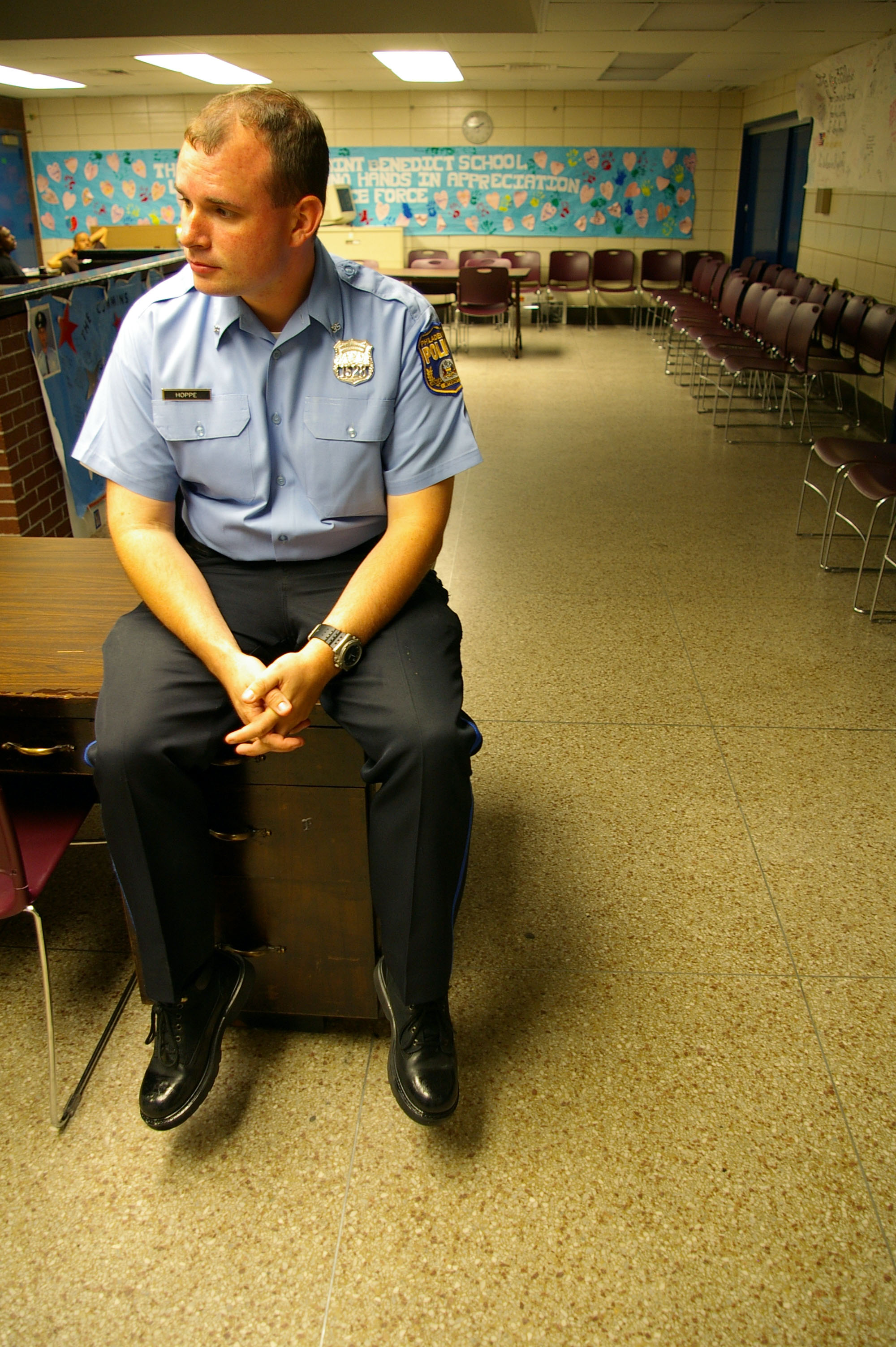 Officer Hoppe has been with the 35th District for two and a half years.