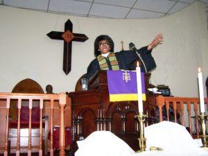 Reverend Harvell is Temple Presbyterian's head pastor