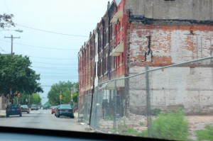 One of the many vacant lots on or surrounding Ridge Avenue.