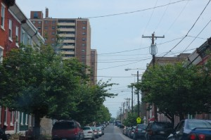 A view of the Blumberg Apartments, provided by the Philadelphia Housing Authority, from down Jefferson Street.
