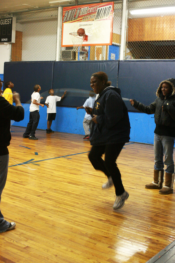 When Officer Wells isn't busy watching over all the children, she takes a moment to jump some double-dutch.