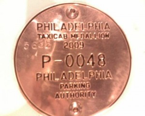 Philadelphia Taxicab Medallion