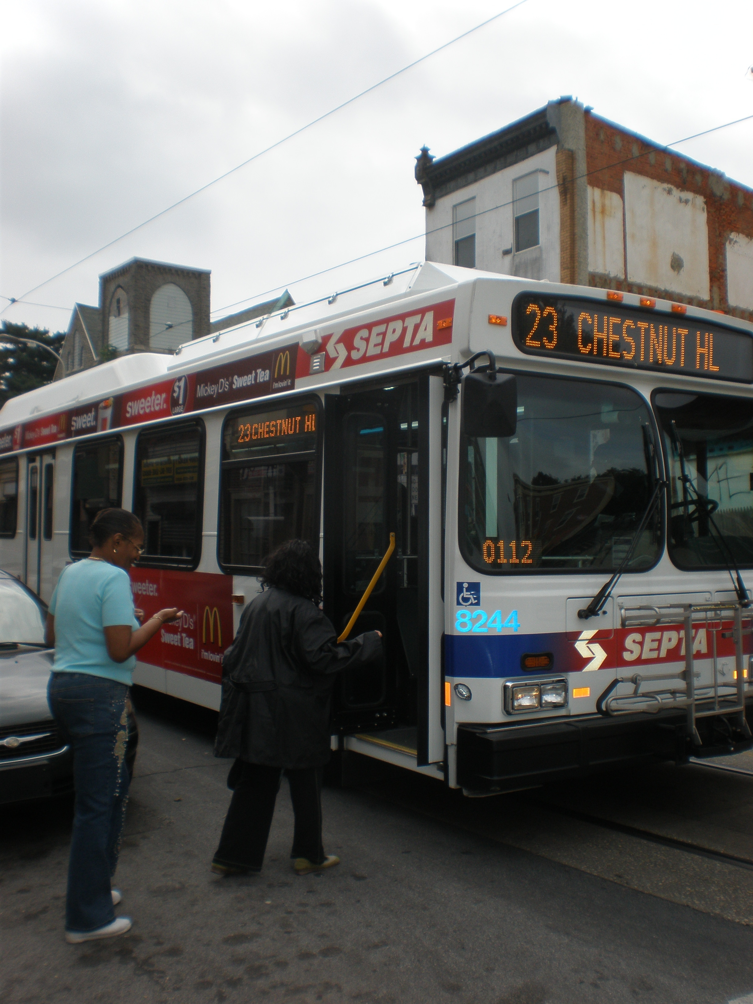Nicetown residents utilize SEPTA buses more often than subway.