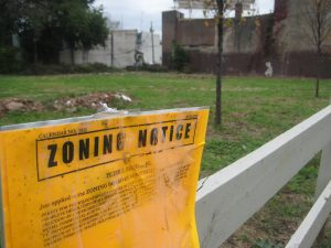 This empty lot at the 4300 block of Germantown Avenue will feature a new commercial corridor and residential housing