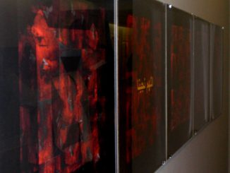 "Artwork from Juan Sánchez's exhibit, ""Unknown Boricuas + Prisoner: Abu Ghraib."""