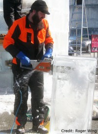 Roger Wing Carving Ice