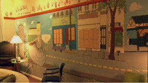 Dwyer said the wall mural in the Teen Center was a project done by the members.