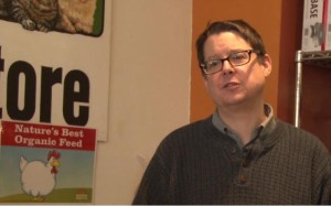 Jon McGoran, Communications Director at Weavers Way, discussed the potential environmental benefits of raising chickens.