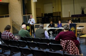 Chestnut Hill residents listened to representatives from the Office of Property Assessment speak about new property assessments and taxes.