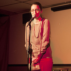 Laughs on Fairmount founder Carolyn Busa performed at the Urban Saloon.
