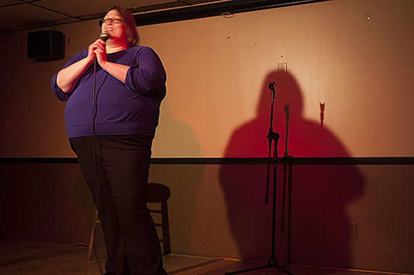 Tara Young made the audience laugh at the Urban Saloon.