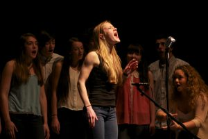 Eleanor Thompson, of Germantown Friends School, led the group in its performance of Christina Aguilera's Ain't No Other Man.