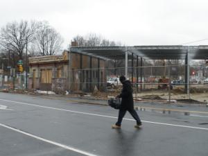 The steel framework was installed on Feb. 7.