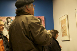 Jim Dragoni observed art at the On The Ground exhibit.