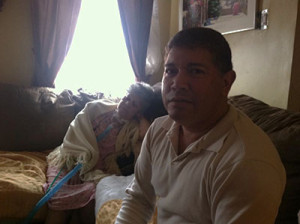 Carlos Mitti sat in his home with his mother Haydee Mitti.