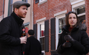 Francis Rainey and Kristen Albee discussed AVI at Saint Albans Street's Spring block party.