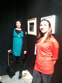 Two featured artists Ellie Brown and Theresa Rose showcase their artwork at the P'unk Community Art Show and Auction.
