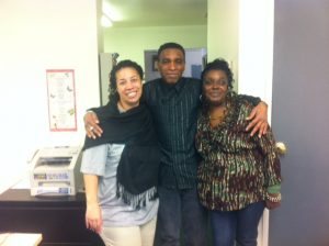 From left to right: Parkside Association volunteers Evelyn Hudson, Azor Baker and Millicent Ayers.