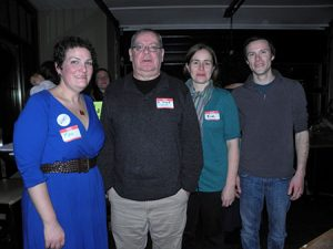 The Lower Moyamensing Civic Association board members at the fundraising event.