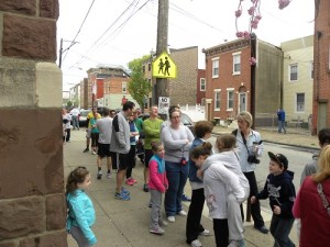 Participants of all ages line up to take part in the run.