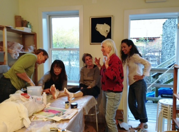Guest Artist Gina Gruenberg  led participants in a casting demonstration.