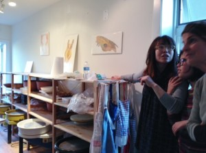 Owner and Founder Shinobu Habauchi (left) overlooks the studio with her daughter and mother-in-law.