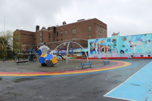 After being given a grant from The Hamels Foundation, Bayard Taylor Elementary was able to build this playground.