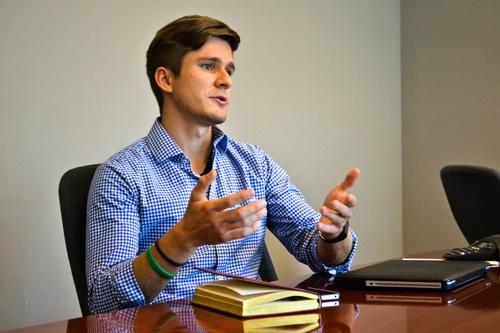 Mikhail Naumov, co-founder of GREEN explained student entrepreneurship.