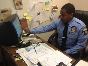 Officer Tyshaan Williams makes a spreadsheet of everything he needs to do to get his organization up and running.