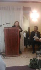 Shoshana Bricklin spoke at the Candidate Forum.