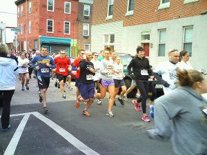 Over 100 people took part in the 5K run for charity.