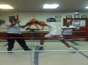 Attack Mode Founder, Lonnie Haile worked on some pad work with boxer Keiran Hooks.