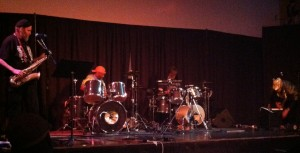The BLEW 4-tet performed their set at the Rotunda on Thursday night.