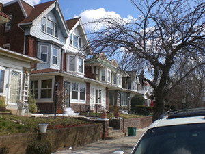 Many of the homes in Cobbs Creek were built as twins rather than row homes.