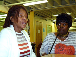 Block captains Marlene Hardy (left) and Sharyn Holloman (right) said their neighbors were unhappy with their reassessments.