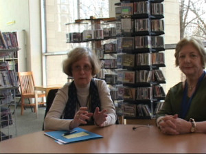 Librarian Lynn Ruthrauff and Northwest Area Administrator Toni Hoagland discussed how the park will help their branch improve.