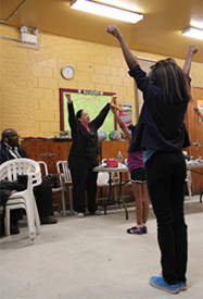 Marion O'Connor, cheerleading coordinator at Tustin Recreation Center, taught her dance class new routines.