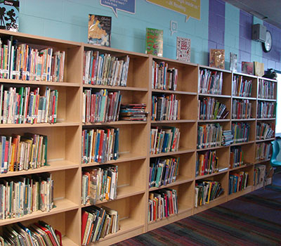 The remodeled library provides student access to iPad's and literature that was not available prior to the grant.