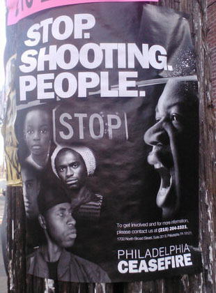 A flyer hung in Nicetown-Tioga.