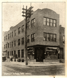 Credit to Rosa Food Products, Inc. A photo of the original Rosa Food store front at 13th and Federal streets.
