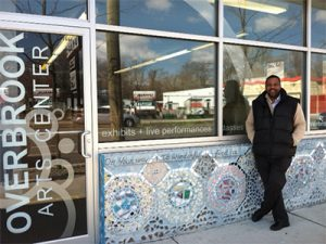 Jerome Shabazz, director of Overbrook Art Center, proudly displayed the center.