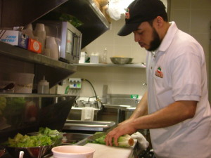 Chef and manager, Nicquan Church has been in the restaurant business for 15 years.