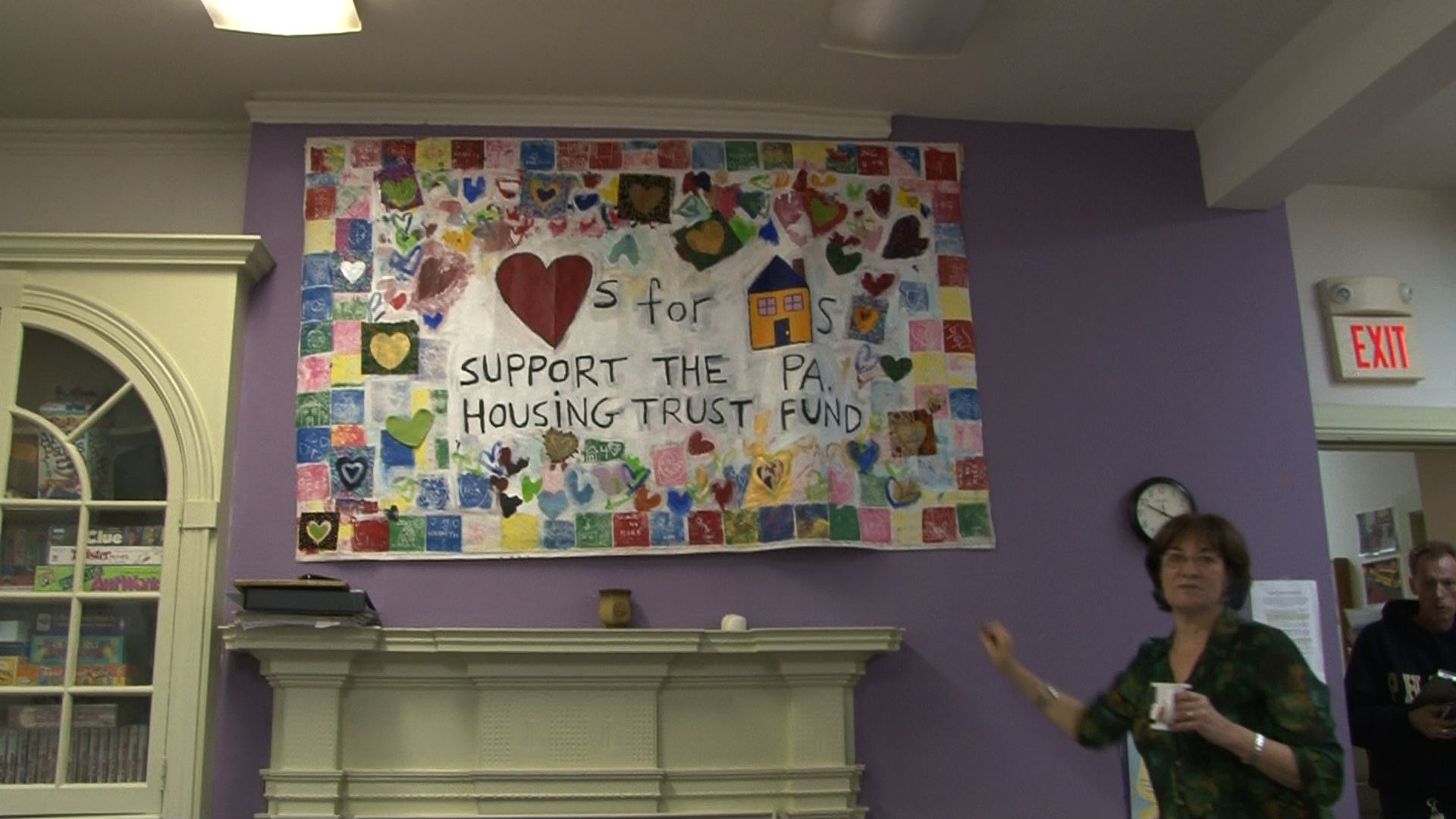 Quilts were made by local schools to show those in the program that there is a community of helping people surrounding them.