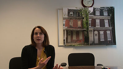 Maura Kennedy discussed that effects of abandoned buildings.