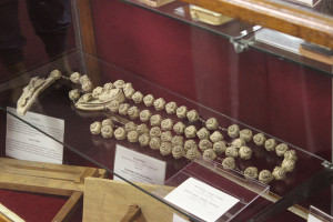 This large stone rosary came to the United States from Rome, and can be seen during a tour.